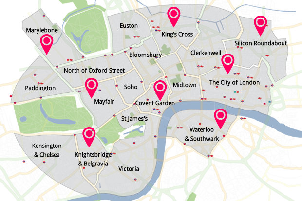 London Map Location.5 Steps To Choosing The Best Location For Your London Office