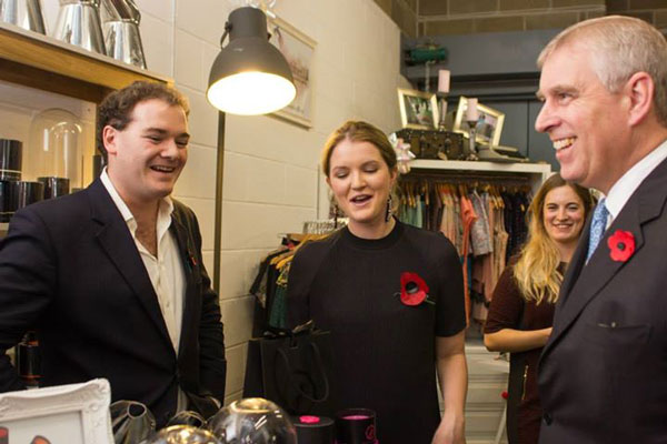 Pop Up Shops - Alice with Prince Andrew visiting Wick & Tallow's shop in Piccadilly