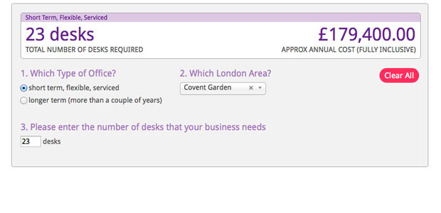 Have you seen our upgraded London office space calculator?