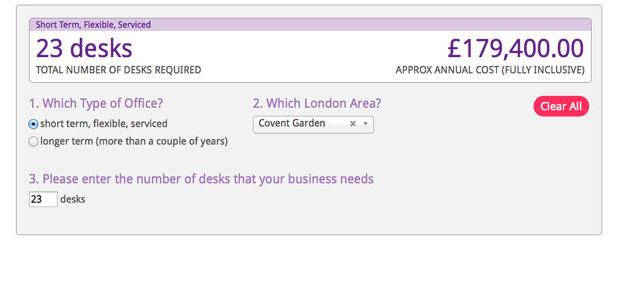 London Office Space Calculator