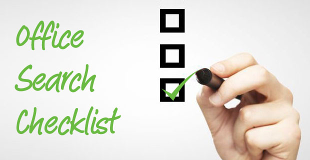 Viewing office space? This 21 point office search checklist will save you time and money