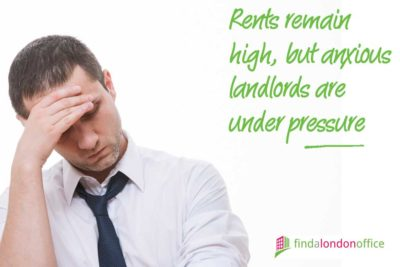 Rents remain high, but anxious landlords are under pressure