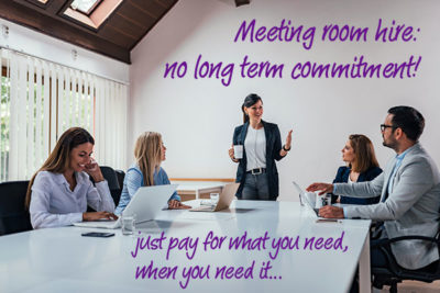 Meeting room hire: easily present your business with confidence