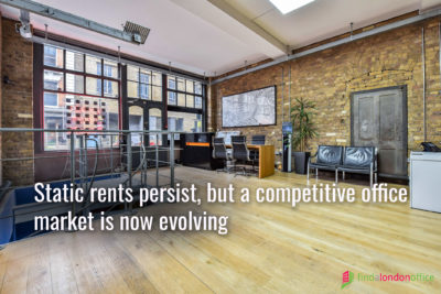 Static rents persist, but a competitive office market is now evolving